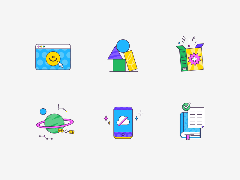 outline icons ux outline ui design icons texture icon pattern illustration vector patswerk