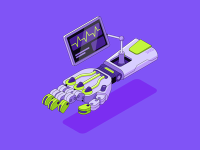 Robinhood app #1 blog robinhood robot app outline investing tech ui isometric illustration vector patswerk