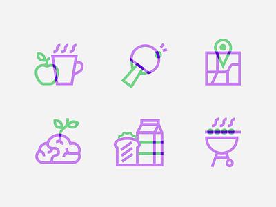 Futurewhiz icons coffee bbq outline map icons icon ui logo illustration vector patswerk