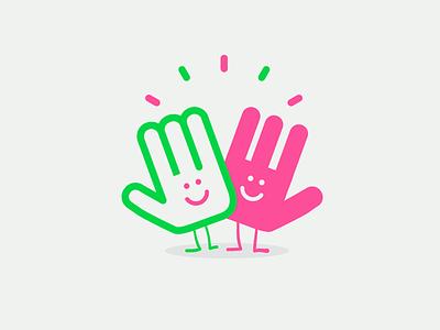 High five high 5 high five tgif character hand illustration vector patswerk