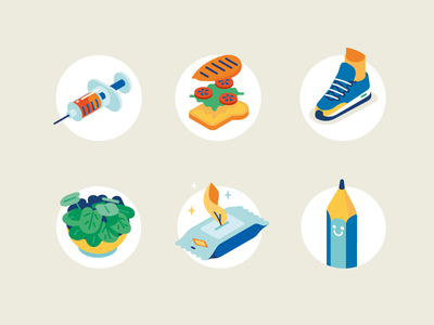 Men's Health icons mens health shoe sneaker sandwich syringe health icons icon isometric illustration vector patswerk