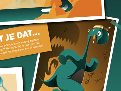 Childrensbook patswerk vector illustration children book dinosaur