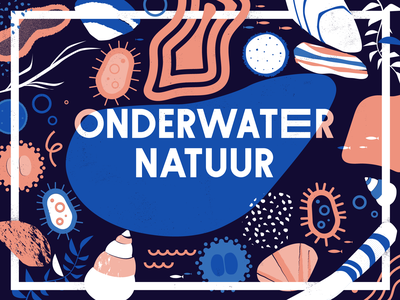 Underwater experiment texture stones shell abstract pattern nature illustration vector patswerk
