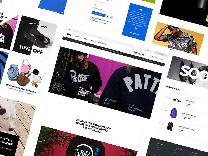 Dink e-commerce UI Kit Freebie  web ui freebie freebies platforma8 p8 uidesign ecommerce uikit