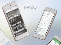 Frizo App. UI UX Design