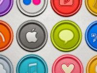 Social Badges Set