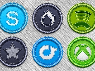 Get Them! social badges icon pack download psd