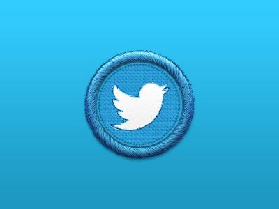 Twitterbird twitter bird logo badge stitched button web icon set social media social network twitterbird vector psd