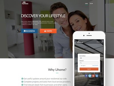 Uhome project design ux ui