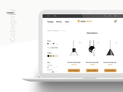 Sunlight Project web ux design ui