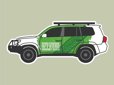 4wd Sticker Design outdoors sticker illustration cars 4wd