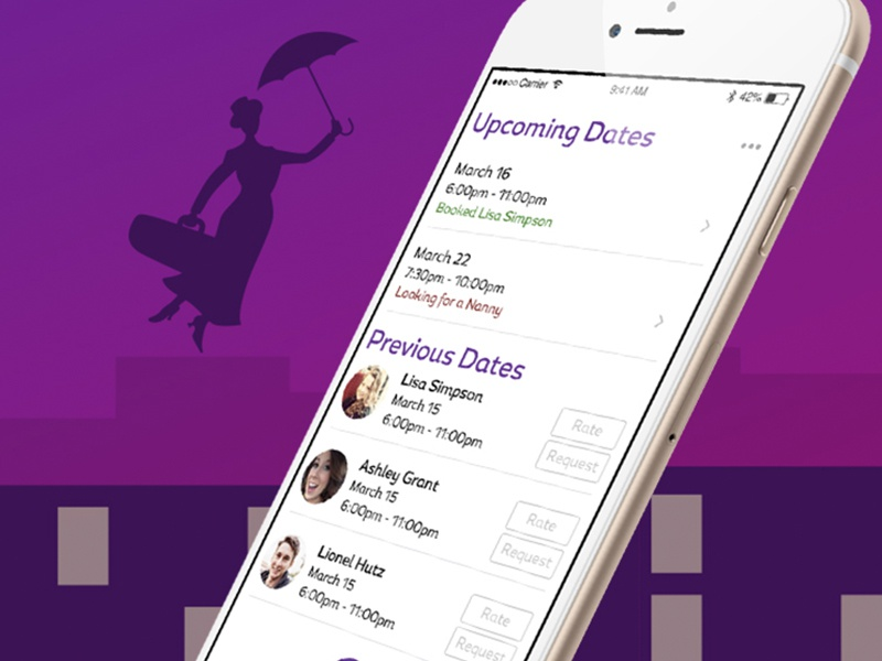 Need a Nanny - Main Screen by Nathan Simpson on Dribbble