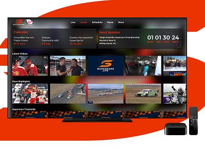 Supercars for Apple TV v8 supercars supercars streaming motorsport sports smart tv tv app store app ui apple tv