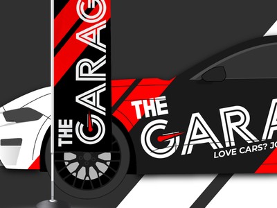 WIP Branding for TheGarage brand signage vehicle wrap car cars