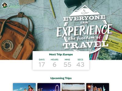 Travel Website webpage website adventure travel