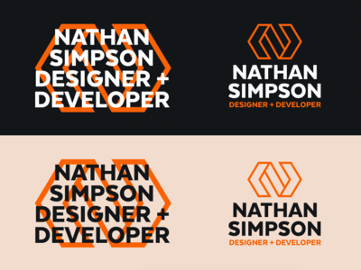 Logo experimentation industrial logo