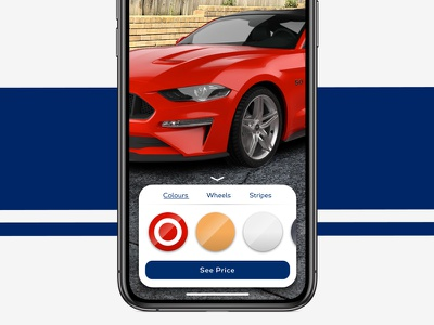 AR Car Configurator mustang ford iphone x iphone automotive app ui augmented reality ar cars car