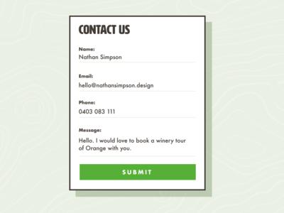 Contact form design outdoor form ui