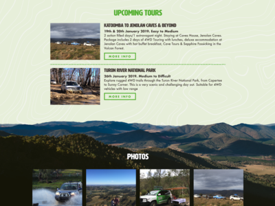 Upcoming Tours adventure offroad tourism web website
