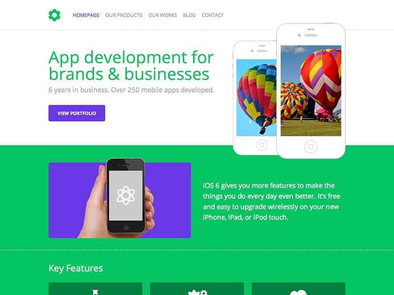 Free HTML+PSD Template free html psd template iphone
