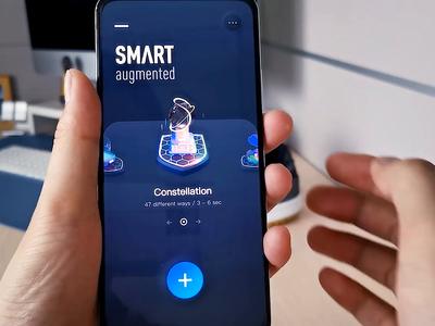 Smart Augmented App ai color app data motion interactive technology concept