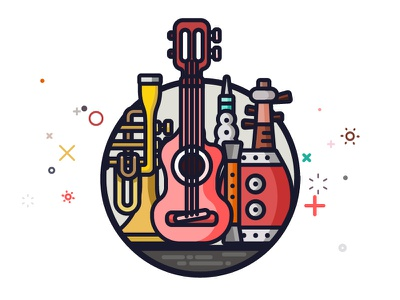 Musical instruments musical liuqin flute drums suona trumpet guitar