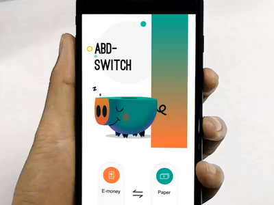 Switch cash app concept pig converted ae ui animation gif electronic cash money