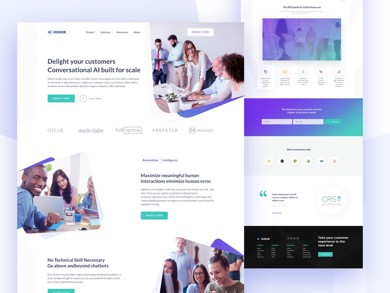 Kunor Business Consulting Landing page marketing agency gradiant 2019 trend agency landing page design agency hero area uiuxdesign creative  design best design 2019 business consulting interface design landing page