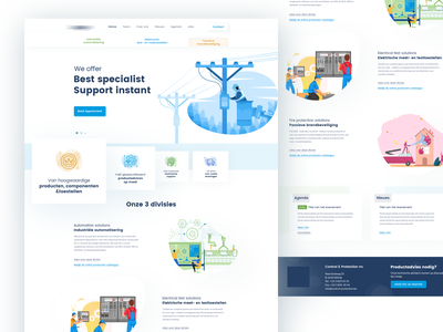 Control-protection Landing page design website uidesign landing  page creative  design landing page