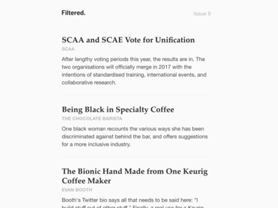 Filtered email design