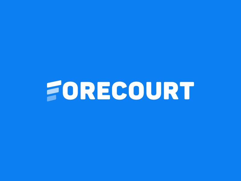 Forecourt cars forecourt identity blue branding f logo f logo