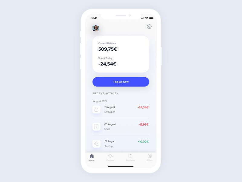 Top Up Screen by Ana Lu on Dribbble