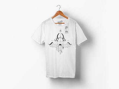 Tshirt Design for Whitepanda insect crystal design animal illustration
