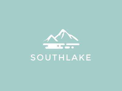Southlake Logo mountains southlake flat design graphic graphic design modern clean minimal illustratoion logo blue lake