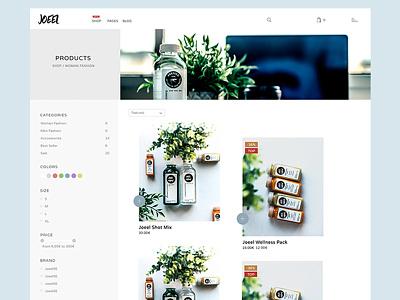 Joeel Theme ui shop ecommerce minimal clean flat graphic design webdesign userinterfacedesign userexperiencedesign theme design uxdesign uidesign theme shopware