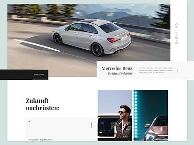 Mercedes Emotion World Shopware shop minimal clean ecommerc webdesign ux ui uxdesign uidesign shopware emotionworld mercedes mercedes benz