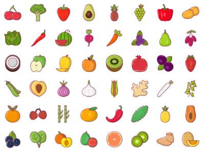 Fruits and Vegetables ingredient food vegetable fruits