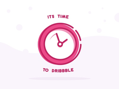 Its time to dribbble! first shot time clock debut invite dribbble