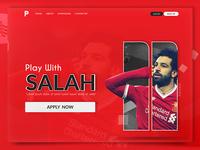 Play With Salah Landing Page