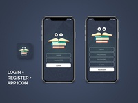 Library Login, Register and App Icon