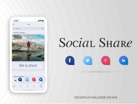 Daily UI 016 | Social Share