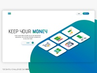 Daily UI 019 | Keep Your Money | Landing Page Header