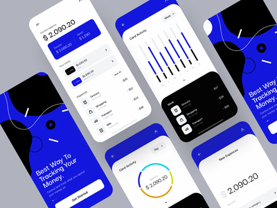 Money Tracking iOS App concept ios design style simple clean money spend onboarding chart dashboard profile finance tracking app mobile app mobile ux uiux ui
