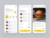 Delivery Food iOS App food app foodie design modern trend clean minimal style concept ios service delivery food layout mobile app ux uiux ui