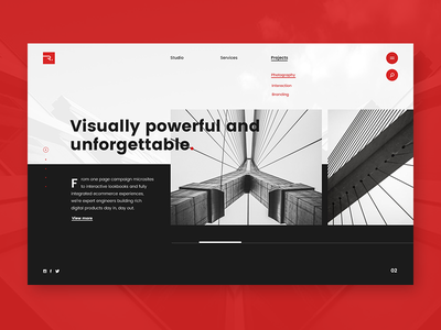 Radius Projects Screen branding concept agency style minimal clean web ux ui