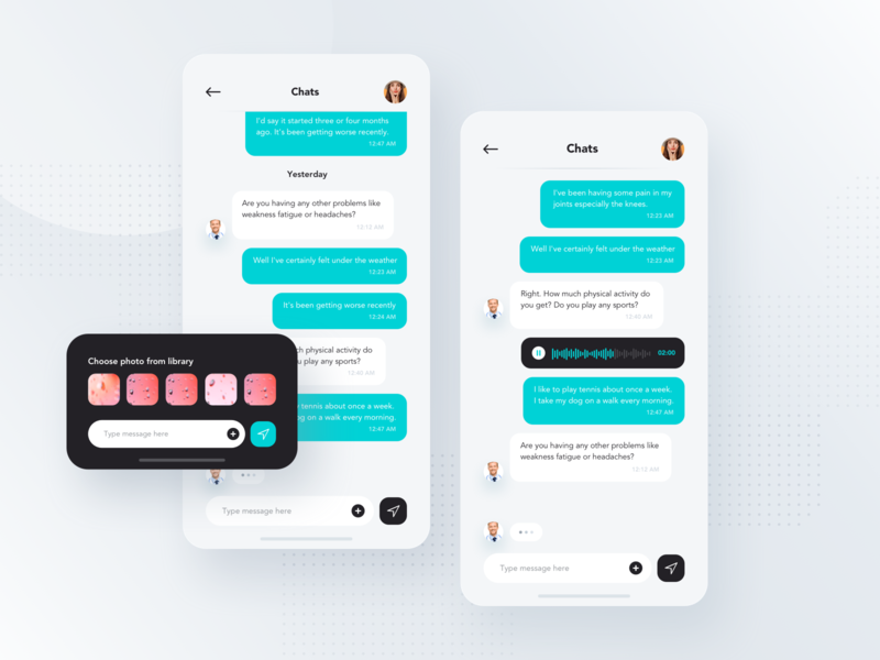 Chat Mobile Screen clean style tile interface inbox user app apps application profile task schedule picture add workflow ux ui  ux ui message messaging chat app chat mobile