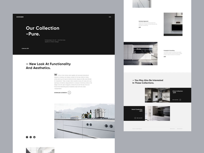 Horizon - Product Page concept grid animation page website modern style minimal clean layout ui ux