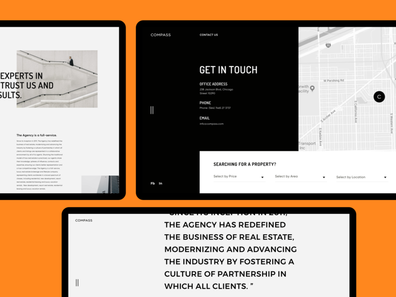 Compass - Website Pages. Details web design concept product style modern clean minimal webdesign layout pro website ux uiux ui
