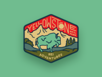 REI Adventures Patch — Yellowstone National Park