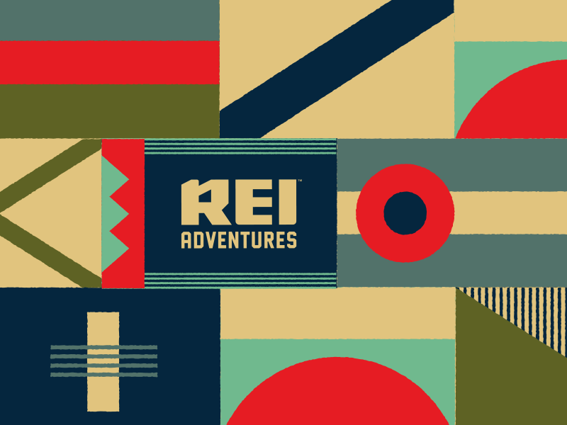 Rei Adventures Pattern By Simson Chantha On Dribbble